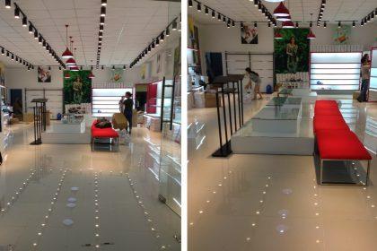Tổng vệ sinh hệ thống cửa hàng thời trang Juno