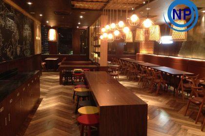 Vệ sinh sau xây dựng nhà hàng Ngõ TTTM Sài Gòn Centre Q1