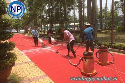 Giặt thảm tại nhà thi đấu Rạch Miễu – Phú Nhuận