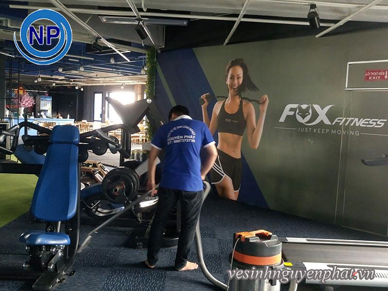 Giặt thảm tại phòng GYM FOX FITNESS TP.HCM
