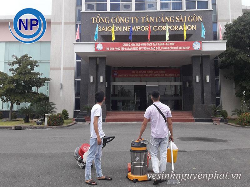 Giặt thảm văn phòng tại Tổng Công Ty Tân Cảng Sài Gòn