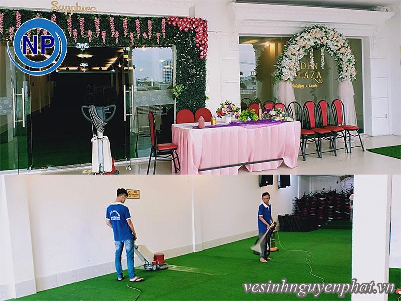 Giặt thảm tại EDEN Laza - Tên cũ Nhà hàng tiệc cưới Phố Đôi